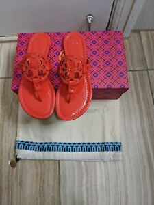 Tory Burch Miller Samba Red Thong Sandals Size 8 New