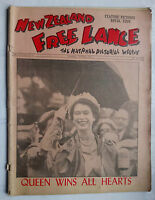 NEW ZEALAND FREE LANCE NEWSPAPER.QUEEN ELIZABETH II VISIT.JAN 6 1954 .PHOTOS