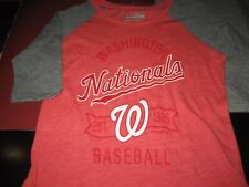 YOUTH BOYS/GIRLS UNDER ARMOUR MLB WASHINGTON NATIONALS  RAGLAN SHIRT SMALL NWT