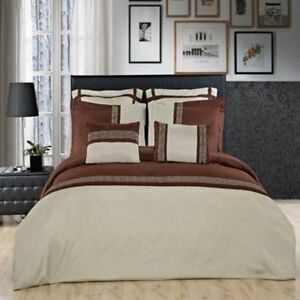 Astrid  Embroidered 7 Piece Bedding Set 100% Microfiber 300 Thread Count