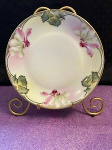 """ROYAL RUDOLSTADT Prussia Crown B Mark 7.5"""" Plate Hand Painted Signed"""