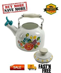 Blooming Floral Bouquet Enamel on Steel 2-Quart Tea Kettle, Hand wash only