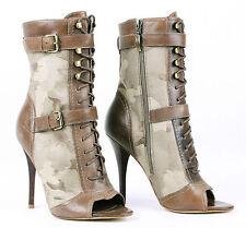 Women's Animal Print Zip Boots