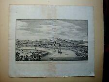 ROMA LAZIO OSTIA INCISIONE ORIGINALE DEL MERIAN 1640