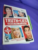 Truth or Lies (Nintendo Wii, 2010) Video Game