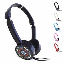 Childrens Kids Foldable Funky Headphones earphone headset for iPad iPhone MP3