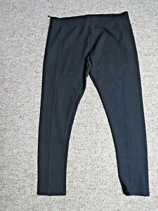 Laura Ashley Ladies Black Slim Leg Stretchy Trousers Size 16 Jersey High Waist