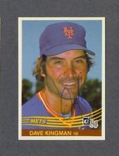 Dave Kingman signed New York Mets 1984 Donruss baseball card