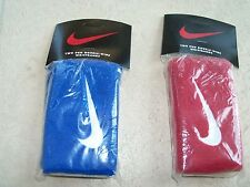 NIKE Set of two (2) pairs of  Swoosh Tennis  Wristbands, Double-Wide size