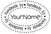 PERSONALIZED CUSTOM  MADE HANDMADE BY  RUBBER STAMP H01