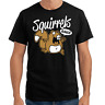 Squirrels Rule Comic Cartoon Eichhörnchen Sprüche Geschenk Lustig Spaß T-Shirt