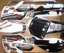 KLX 110 02-09 Kx 65 02-13 Graphics Kit / Plastics H&H Dodge Hunttington WHITE