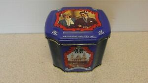 Prince Charles & Lady Diana Wedding 1981 Tea Tin Caddy with Original Loose Tea!