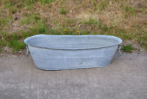 Vintage old baby bath galvanized bath / dog wash