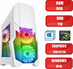 ULTRA FAST Quad Core i5 Gaming PC Tower WIFI & 8GB RAM 1TB HDD 2GB GT710 Win 10