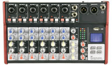 Compact 8 Channel Mixer with USB & Bluetooth