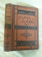 The Age of Anne Epochs of History Edward Morris Antique 1883 Maps Victorian