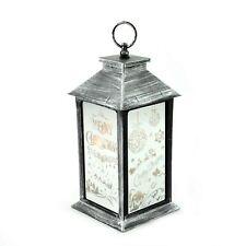Silver Christmas Lantern PVC LED Lights Xmas Party Home Nativity Decoration