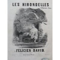 DAVID Felicien Las Golondrinas Nanteuil Chant Piano ca1840 partitura sheet music