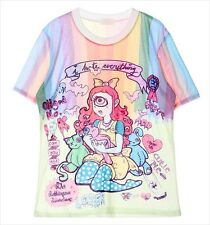 One Eyed Alice in Wonderland T-Shirt Kawaii Harajuku Fashion Goth - LS0024