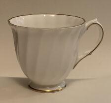 Royal Doulton Fine Bone China H4808 Demitasse Espresso Cup White Swirl Gold Trim