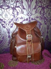Vintage Chestnut Brown Leather Backpack