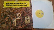 BEETHOVEN SYMPHONY Nos 1 & 2 BPO KARAJAN DG 2531101 - LP