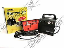 IWATA - MODEL AIRBRUSH STARTER KIT - IS 50 COMPRESSOR+HP-CR+AIR HOSE - AEROGRAFO