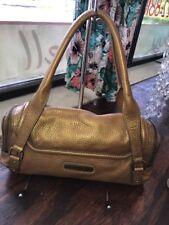 EUC Cole Haan Gold Pebbled Leather Purse Handbag