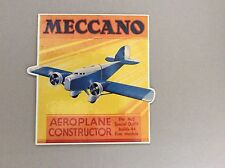 MECCANO CONSTRUCTION TOYS RETAIL SHOP DISPLAY CARDS HORNBY ENGLAND REPRODUCTION