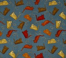 Fat Quarter Crafty Cats Cotton Quilting Fabric