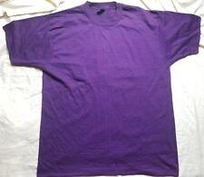 New Vintage Screen Stars Best Blank 50/50 T Shirt Purple Xl Made Usa
