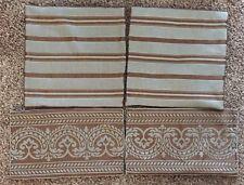 RESTORATION HARDWARE Lumbar & Pillow Covers 4 Matching Gray Brown Linen Silk