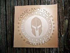 """Large 2"""" Molon Labe Embossing Stamp , Leather Tooling, Clicker, Delrin #109"""