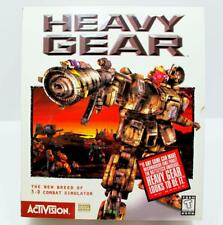 Heavy Gear 3-D Combat Simulator Activision 2PC-CDs 1997 for Windows 95 (62A)