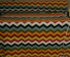 """New listing 5 Yards Chevron Cotton Upholstery Fabric 54""""W Bright & Colorful"""