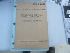 Department of the Army Manual Bulldozer Tilting Cable Operated 1952