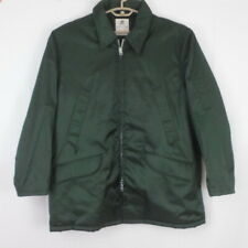 """Vintage HORACE SMALL """"Knight Watchman"""" Green Zip Front Hooded Jacket Coat XL"""