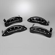New Brake Caliper Cover Set -Gloss Black w Script (2014-2019 C7 Corvette Base)