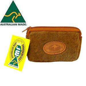 Genuine Kangaroo Fur Leather Coin Purse Australia Made Handcrafted Souvenir NEW