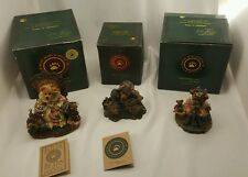 Boyds Bears 3 Figurines The Collector Knute Elizabeth w/ Rosencrantz w/ Boxes