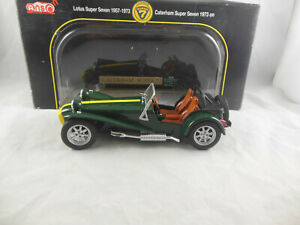 Anson 30317-W 1973 on Caterham Super 7 in Green with Yellow Bonnet Stripe 1:18