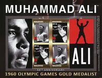 Maldives Boxing Stamps 2010 MNH Muhammad Ali 1960 Olympics Sports 4v M/S I
