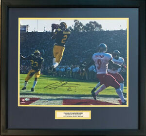 Charles Woodson Autographed Michigan 1998 Rose Bowl Framed 16x20 Photo Fanatics