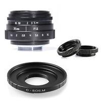 35mm F1.6 CCTV Lens C Mount for Canon EOS M EF-M M2 M3 M5 M6 M10 Camera
