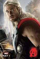 Avengers 2 Age of Ultron Movie Poster (24x36) - Thor, Chris Hemsworth Marvel