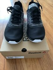 Reebok Print Run 3.0 Mens EF8822 Black Lace Up Running Shoes Size 10.5 US NEW