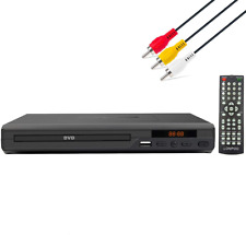 Lonpoo Dvd Player for Tv, All Region Free Dvd Cd Discs Player with Av Output (No