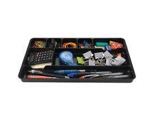 Desk Drawer Organizer Insert Black Home or Office 8 Slots