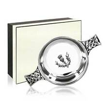 """English Pewter Quaich with Thistle 2.5"""" -Personalized Engraving Available"""